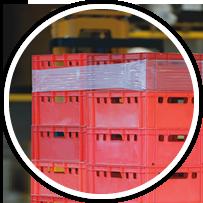 Palettensicherung Kisten