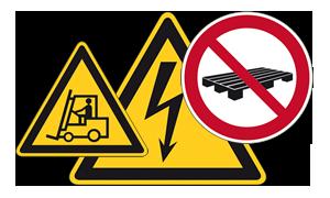 Señales de tráfico, de peligro y de prohibición